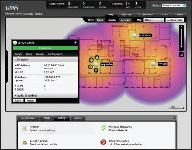 Только с помощью UniFi...  Централизованное управление всеми точками WiFi-сети с одного сервера (от 1 до 10000 точек).
